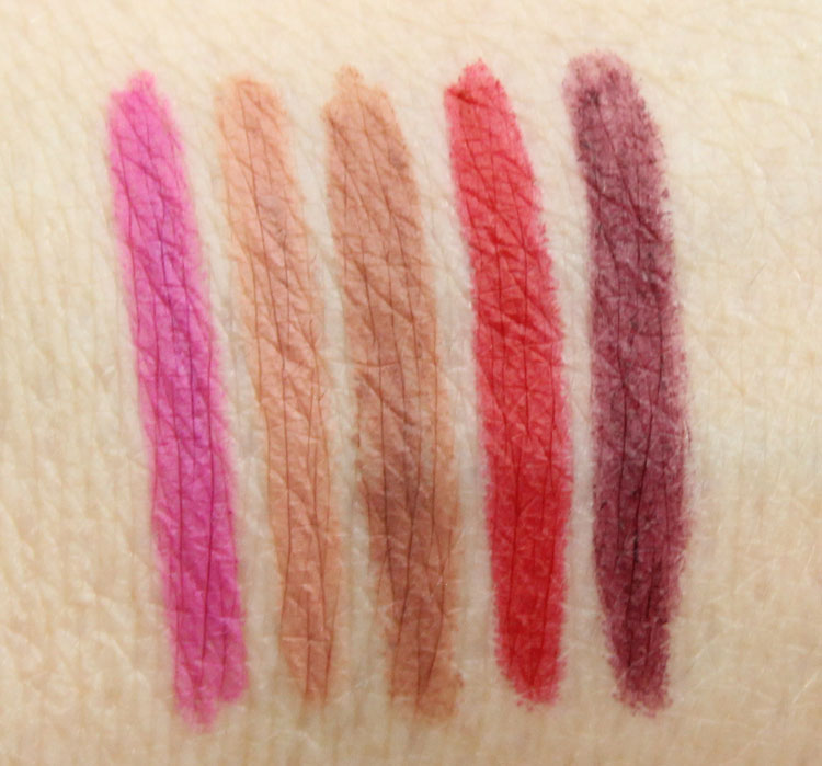Urban Decay 24-7 Glide-On Lip Pencil Bittersweet, Stark Naked, 1993, Bad Blood, Blackmail