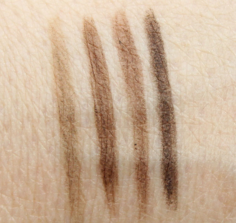 Urban Decay Brow Beater Microfine Pencil and Brush Swatches