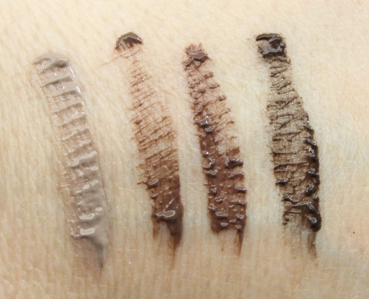 Urban Decay Brow Tamer Tinted Brow Gel Swatches