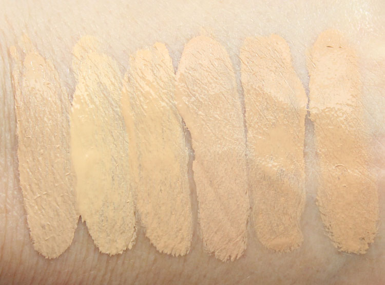 Too Faced Born This Way Absolute Perfection Foundation Swatches