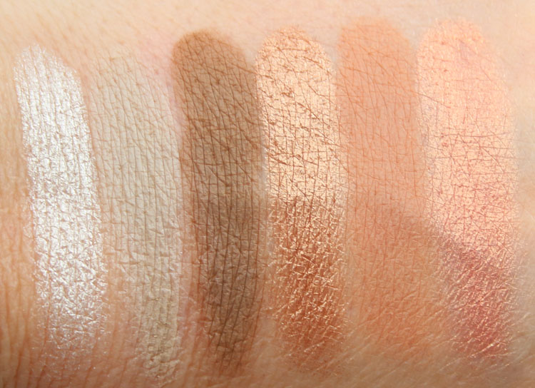 Buxom Eyeshadow Bar Swatches