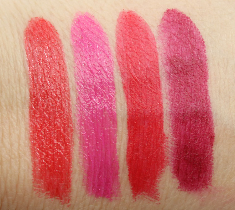 Milani Color Statament Lipstick Rebel Rouge, Power Pink, Matte Kiss, Matte Flirty