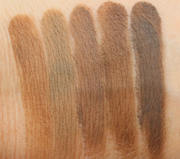 Milani Stay Put Brow Color Swatches