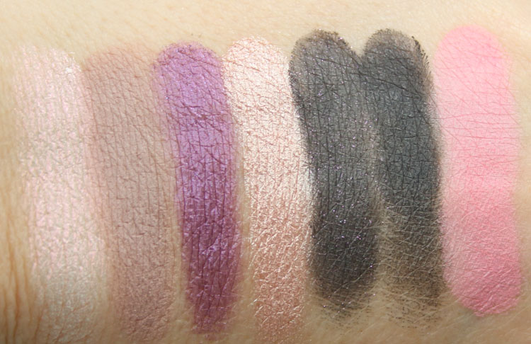 Too Faced Paris After Dark Swatches