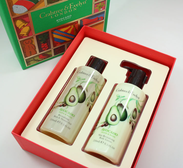 Crabtree & Evelyn Avocado Oil & Basil Bath and Body Gift