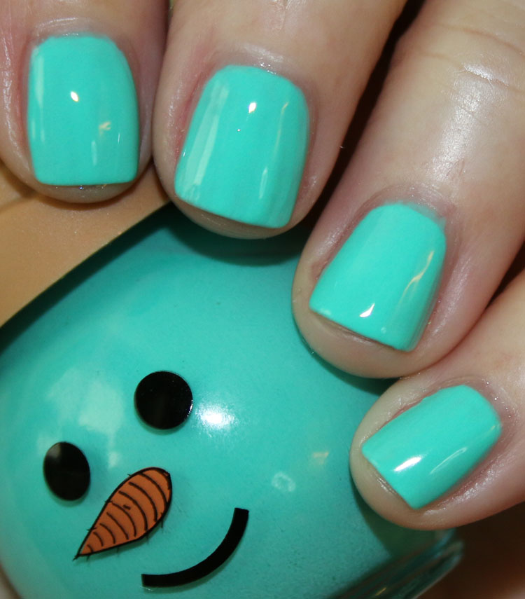 Ice Cream Cone Nail Color Teal