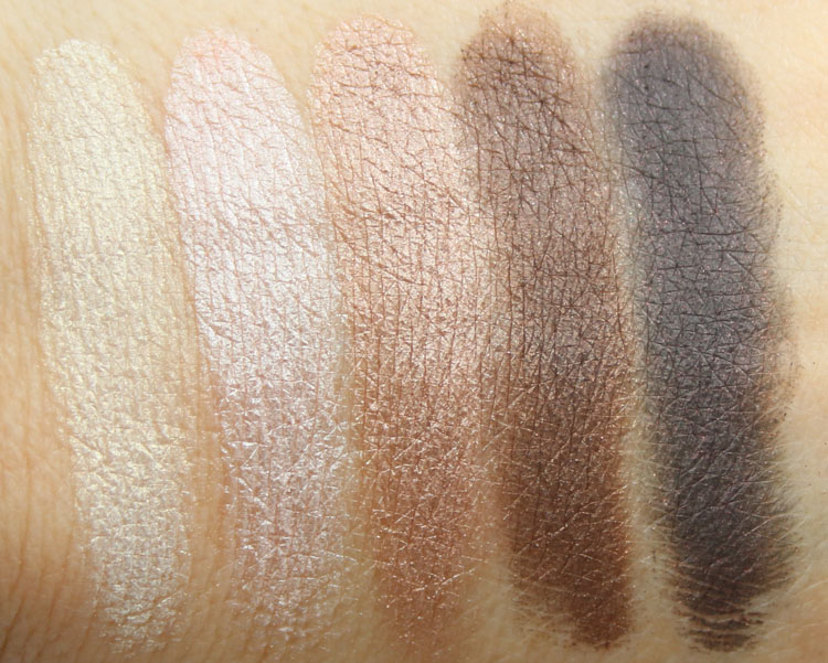 LORAC Love, Lust & Lace Shimmer Eye Shadow Palette Swatches