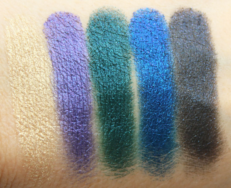 MAC Colourdrenched Pigment Swatches