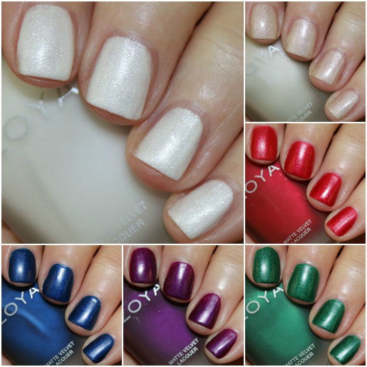Zoya MatteVelvet Holiday-Winter 2015