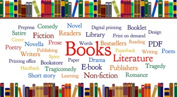 Frequent words related to books. Major forms and genres.