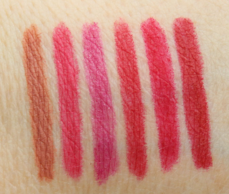 Urban Decay Gwen Stefani 24-7 Glide-On Lip Pencil Swatches
