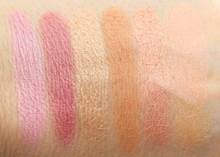 Urban Decay Gwen Stefani Blush Palette Swatches