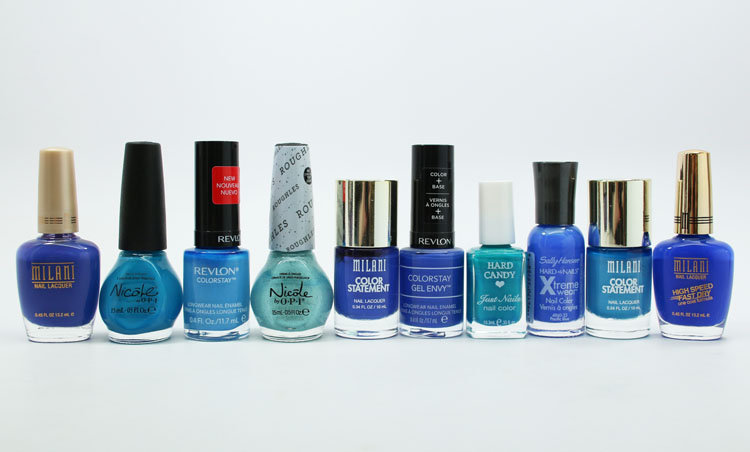 Favorite Blue Drugstore Nail Polish Shades