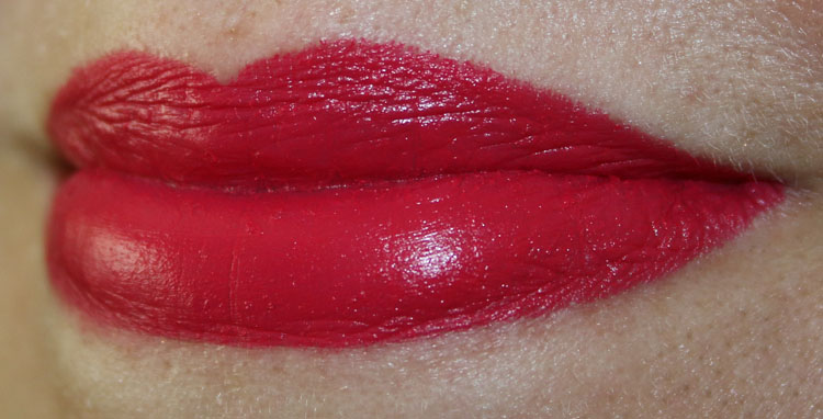 MAC Dangerously Red Lip Swatch