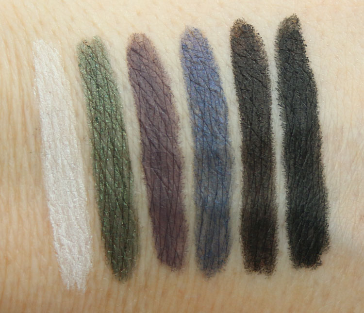 MAC Modern Twist Kajal Liner Swatches