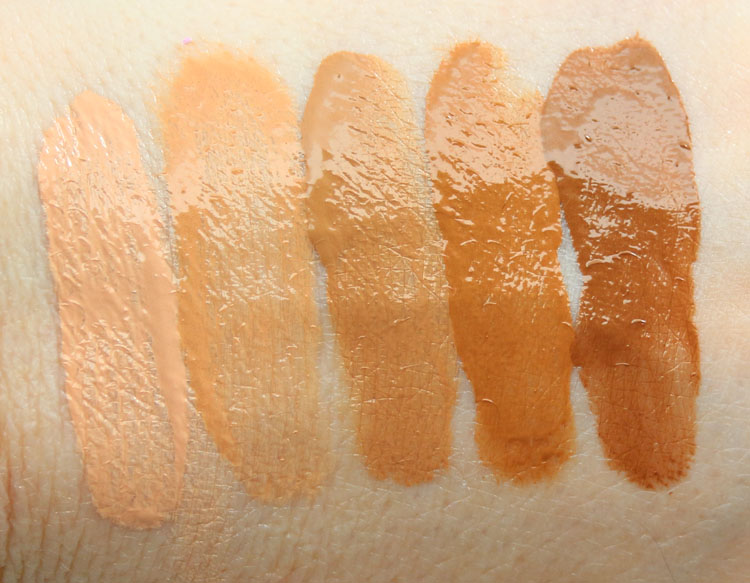 PUR HydraFluid Water Serum Foundation Swatches