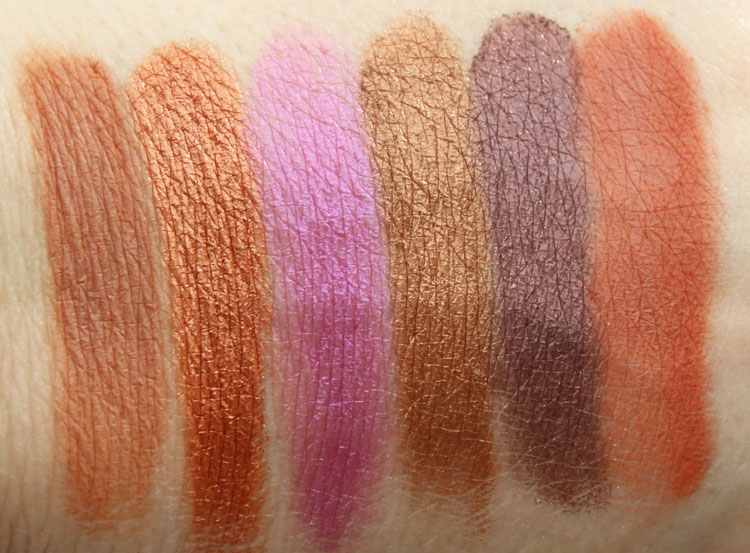 Too Faced Peanut Butter And Jelly Eye Shadow Collection Swatches-2