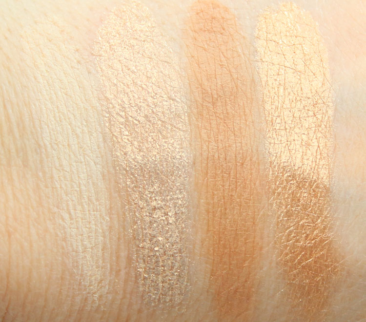 CoverGirl TruNaked Eye Shadow Goldens Swatches-1
