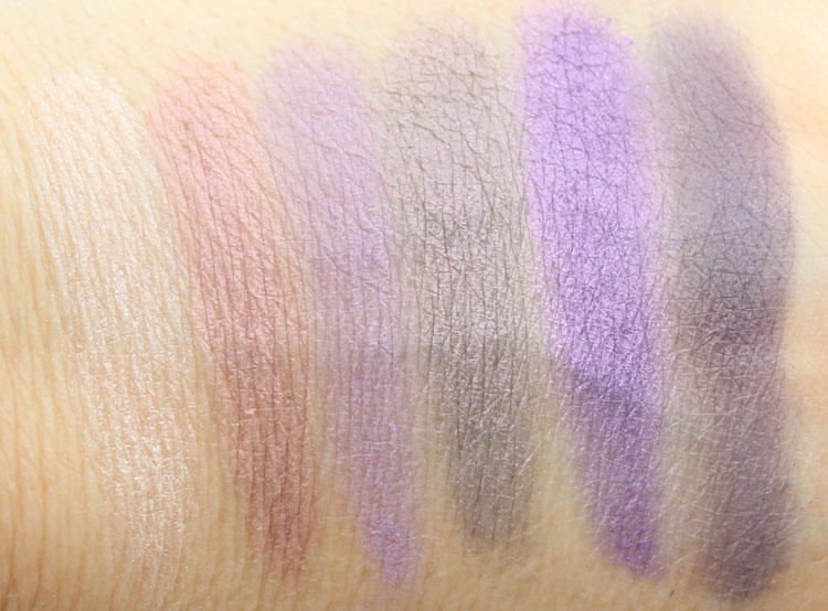 Pixi Mesmerizing Mineral Palette Amethyst Aura Swatches
