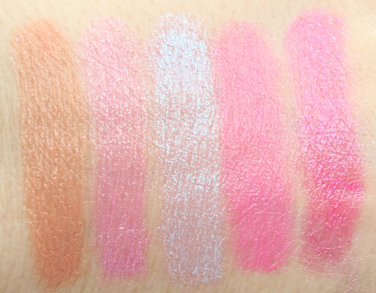 Too Faced La Creme Color Drenched Lipstick Topless, Clueless, Unicorn Tears, Double Bubble, Mean Girls