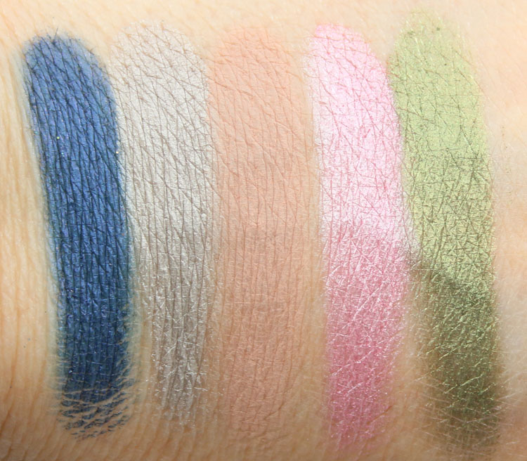 Urban Decay 501, Shallow, Laced, Hot Pants, Mildew