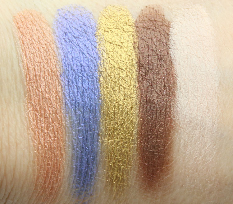 Urban Decay Moonflower, UV-B, Goldmine, Twice Baked, Anonymous