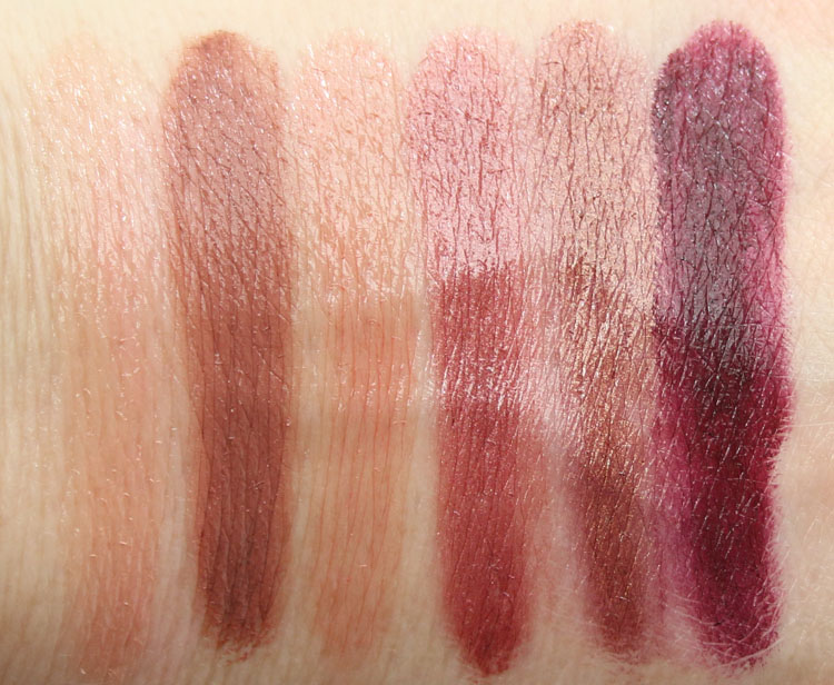 Urban Decay Vice Lipstick Palette Blackmail Swatches-2
