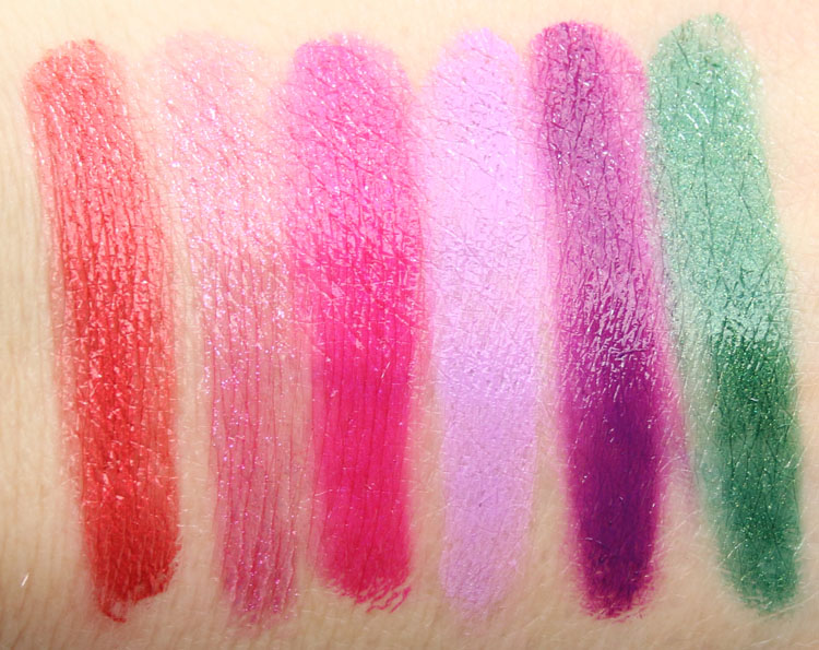 Urban Decay Vice Lipstick Palette Junkie Swatches-2