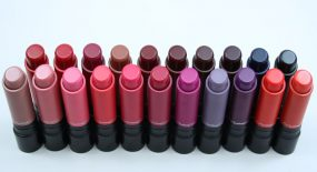 MAC Liptensity Lipstick Swatches