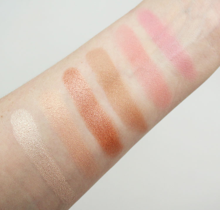 Urban Decay Sin Afterglow Highlighter Palette Swatches