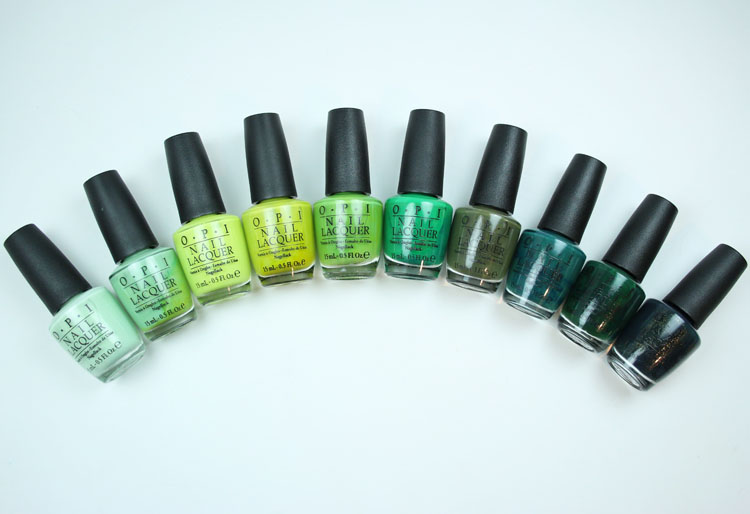 My Favorite Green OPI Nail Lacquer Colors