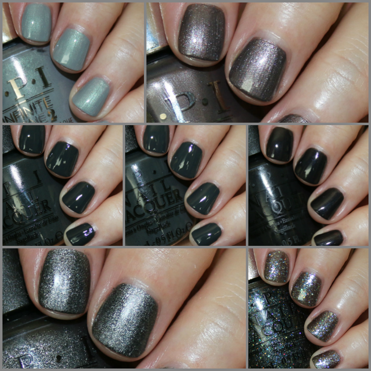 My Favorite Grey OPI Nail Lacquer Colors