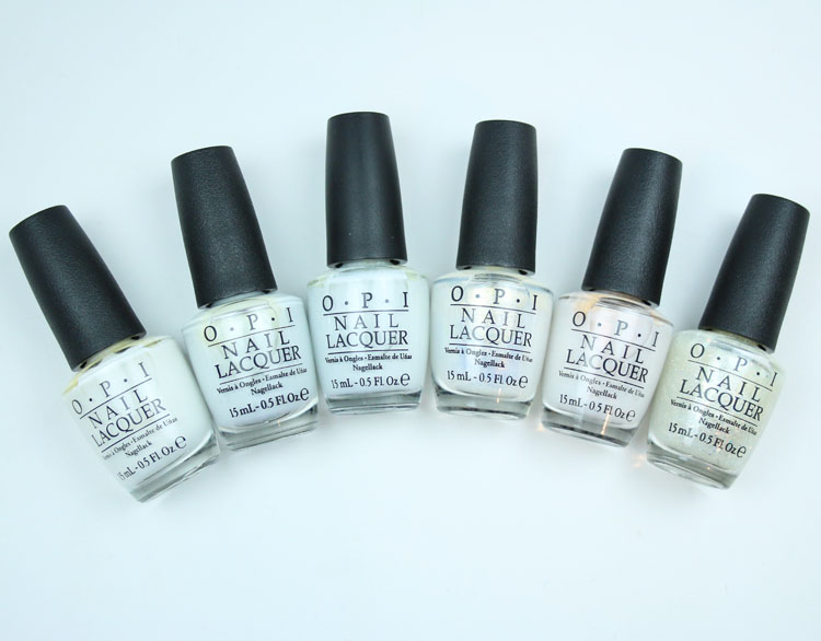 My Favorite White OPI Nail Lacquer Colors