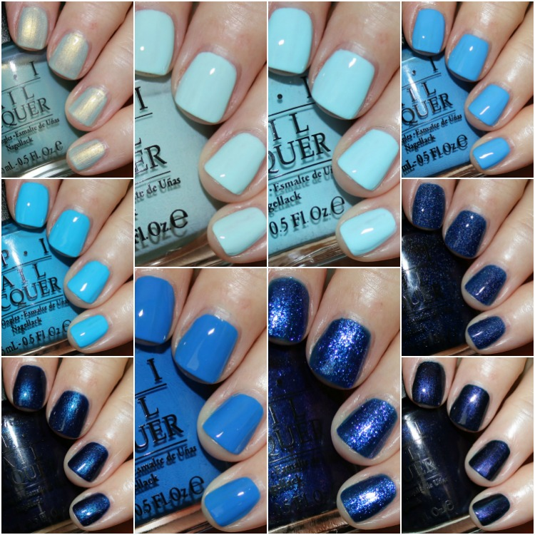 My Favorite Blue Opi Nail Lacquer Colors Vampy Varnish