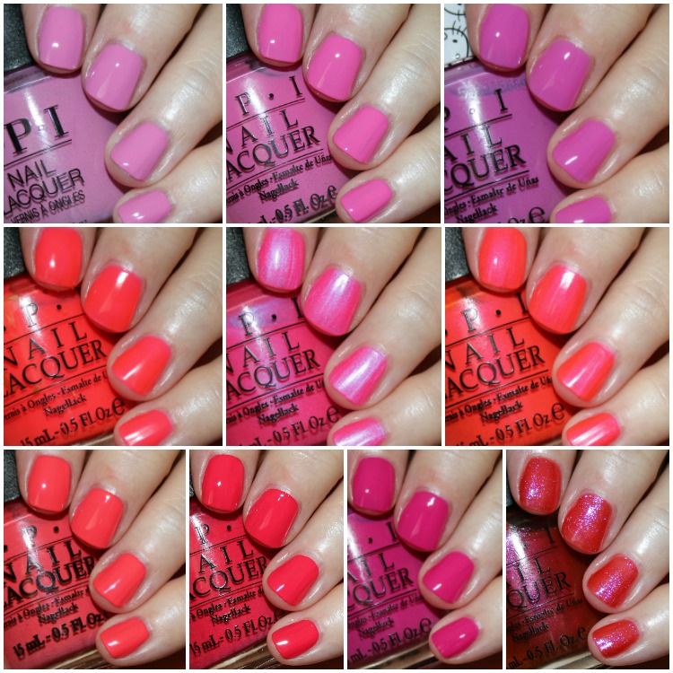 My Favorite Pink OPI Nail Lacquer Colors