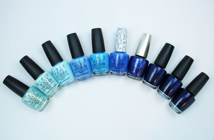 My Favorite Blue OPI Nail Lacquer Colors