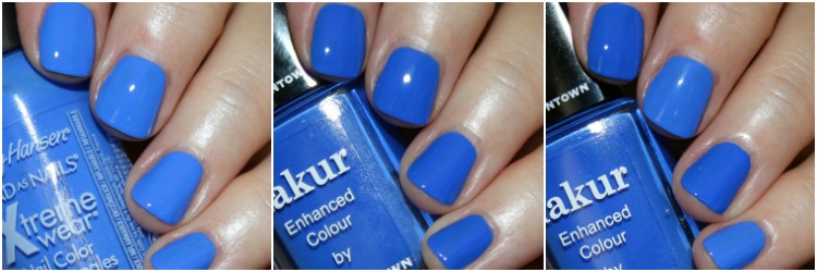 Nail Polish Dupe Series Featuring Sally Hansen Pacific Blue