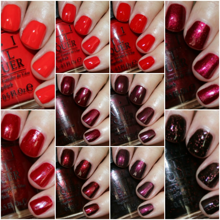 My Favorite Red OPI Nail Lacquer Colors | Vampy Varnish