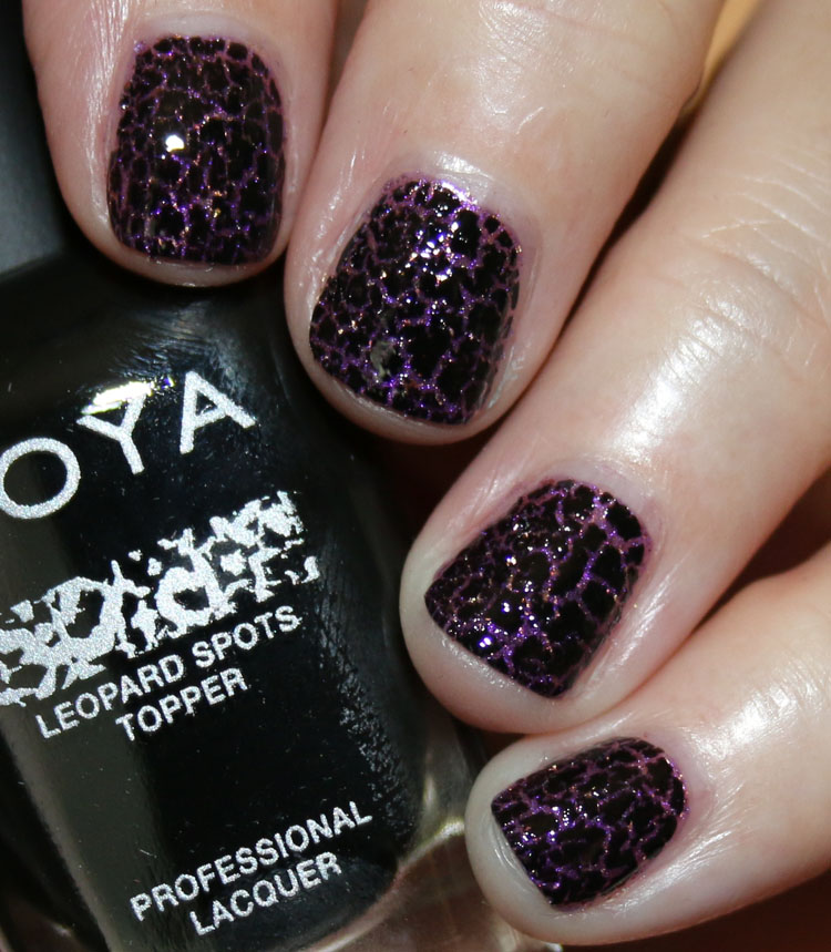 Zoya Leopard Spots Topper (with top coat)