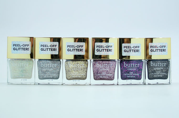 butter LONDON Peel-Off Glitter Nail Lacquer Collection