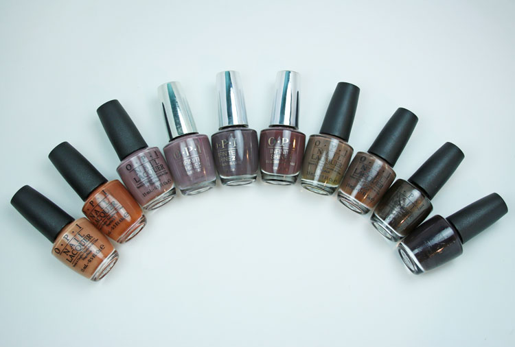 My Favorite Brown OPI Nail Lacquer Colors