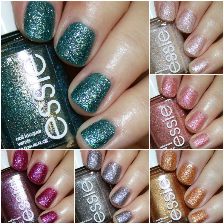 essie concrete glitters collection