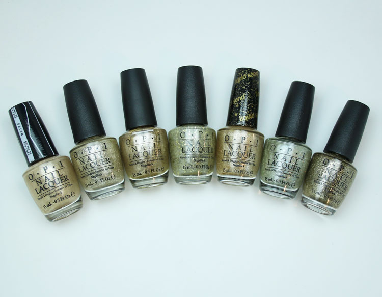 My Favorite Gold OPI Nail Lacquer Colors