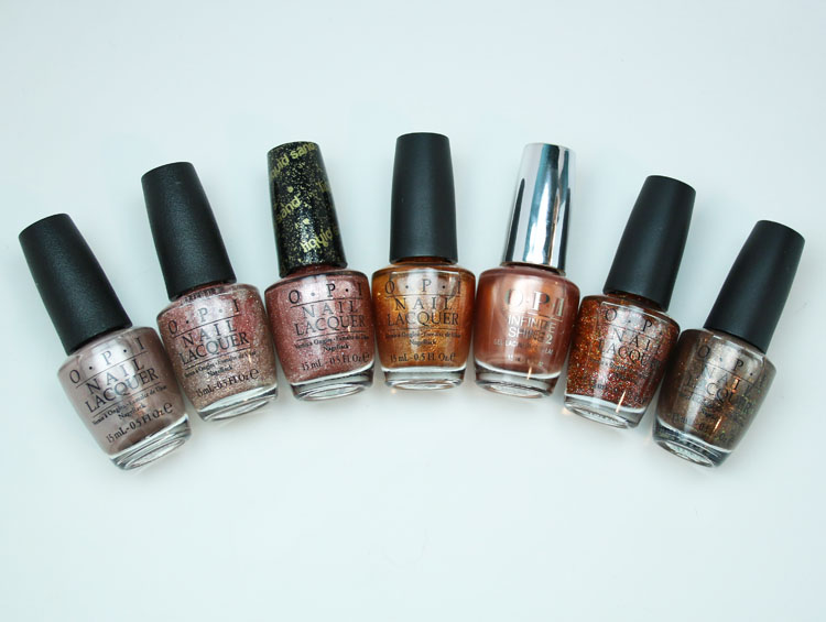 My Favorite Metal OPI Nail Lacquer Colors