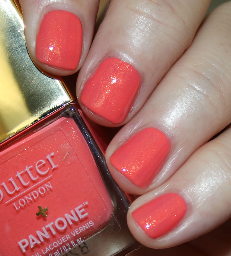 butter London Living Coral Crushed Diamonds