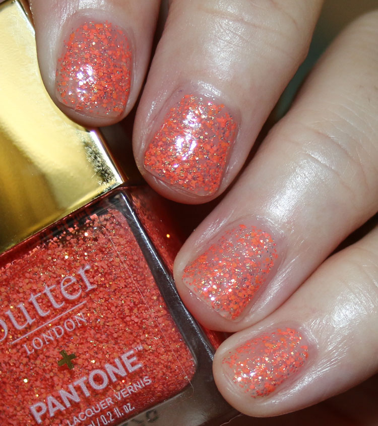 butter London Living Coral Peel-Off Glitter