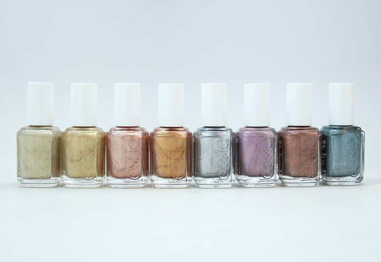 essie treat love & color metallic shades