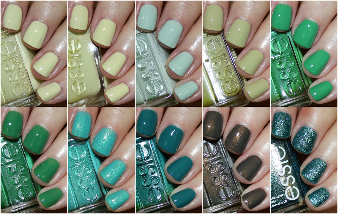 essie favorite green nail lacquers