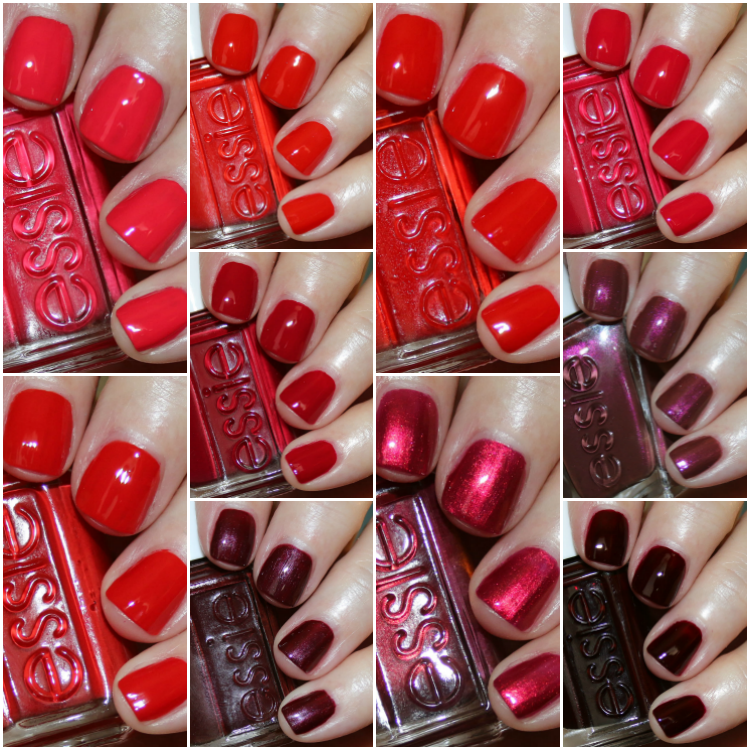 My Favorite Red essie Nail Lacquer Colors