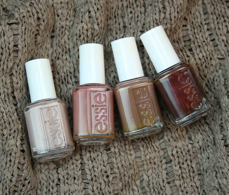 My favorite brown essie nail lacquer colors